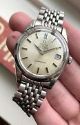 Vintage Omega Seamaster Chronometer Automatic Silver Dial Quickset Steel Watch