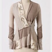 Nwt Tiny Anthropologie Beaded Acres Of Land Patchwork Cardigan Sweater Xs | 98