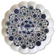 15 White Marble Decorative Dish Plate Marquetry Gems Inlay Dining Kitchen Decor