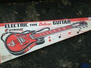 Vintage Boxed Tin Nomura Nt Toy Electric Type Guitar Deluxe Japan - 1960and039s