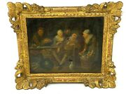 School Flemish And 18th Th Century And Frame Wood Golden And Oil On Canvas And Ref J