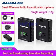 Wireless Radio Reception Microphone For Live Broadcasting Interview Recording