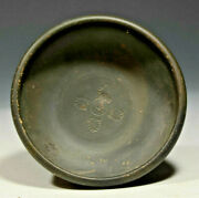 Campanian Or Calene Ware Black Glaze Pottery Salt Dish Or Fish Plate 4th Cent Bc