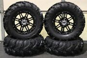 Can Am Defender Hd10 27 Mud Lite Ii 14 Hd3 Black Atv Tire And Wheel Kit Can1ca