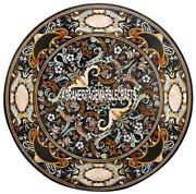 Marble Dining Table Top Pietra Dura Inlay Outdoor Furniture Hallway Decor H3876