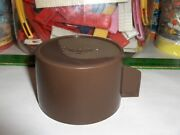 Vintage Brown Aladdin Thermos Cup-fits Thermoses With Metal Tops-use A Lox -30