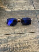 Polo Purple Label P9002 0z84 Eyeglass Gold Plated And Wood Italy G112