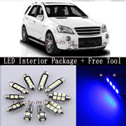 Error Free Blue Light Interior Led Package 22x For Benz Ml-class W164 + Tool Z1