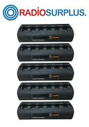 5x Cape 6 Way Charger Unit For Motorola Xpr6350 Xpr6550 Xpr6580