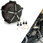 Black Air Cleaner Intake Filter For Harley Dyna Fatboy Road Glide Night Train