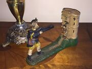 Vintage Cast Iron Mechanical Bank – William Tell And Apple – J And E Stevens Company