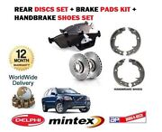 For Volvo Xc90 2002 On Rear Brake Discs Set And Disc Pads And Hand Brake Shoe Kit
