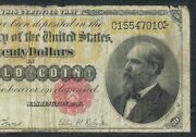1882 20 Gold Certificate Large Size | Scarce - Very Good - Lyons/roberts 540c