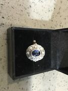 Authentic Antique Rose Gold And Ceylon Sapphire And Diamond Ring