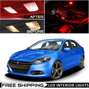 13 X Red Car Interior Led Lights Package Kit For 2013 - 2016 Dodge Dart +tool O5