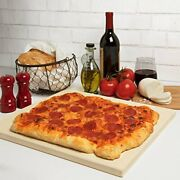 Cucinapro Pizza Stone For Oven, Grill, Bbq- Rectangular Pizza Baking Stone- Xl