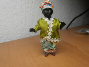 Antique Dolls Germany Doll Black Boy / Girl With Clothes 1910- Miniatur