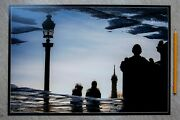 Photo Abstract Eiffel Tower Lovers Paris France Limited Signed Edition By Artist