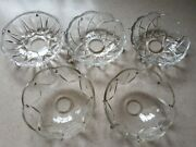 Vintage Mixed Lot Of Crystal Chandelier Parts Bobeche 5 And 8 Pin Holes