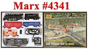 Marx 4341 Steam Loco And 3-cars Set W/box Bad Track And Transformer Good Cond.