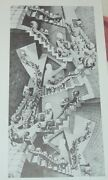 M C Escher House Of Stairs I Crisscrossed Stairs And Doorways Wentelteefje Print
