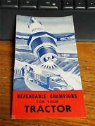 1942 Champion Tractor Spark Plugs Advertising Brochure W Graphics Nos Farm