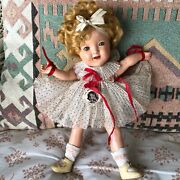 Very Rare 11andrdquo Shirley Temple Doll Wearing Tagged Dress Has Extra Outfit