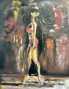 Original Abstract Figurative Dramatic Contemporary Dance Oil Painting