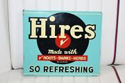 1940s Hires Root Beer Soda Advertising Double Sided Tin Flange Sign