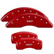 Mgp Front And Rear Red Caliper Covers Fits 2017-2019 Jaguar Xe