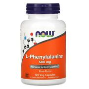 Now Foods L-phenylalanine Nervous System Support Non Gmo 500 Mg 120 Veg Capsules