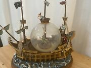 Disney Peter Pan Musical Snow Globe You Can Fly Pirate Ship Wendy Captain Hook