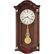 Howard Miller Lambourn I Wall Clock 620-220 Windsor Cherry With Dual-chime