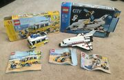 Lot Of 2 Incomplete Lego Kits Creator 31079 City 3367 Space Shuttle Surfer Van