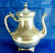 Antique Perlita Sterling Very Heavy 53 Troy Ounce Mexican Coffee And Teapot