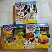 New Play-doh Kitchen Creations Milk And Cookies + Silly Noodles + Burgers And Fries