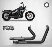 Fit For Harley 2006-17 Dyna Fxdf C W G Wide Glide M Black Exhaust Moving Star