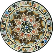 Marble Dining Table Top With Pietra Dura Art Hallway Table From Cottage Art