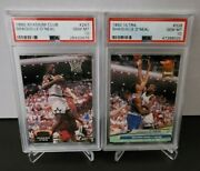1992-93 Shaquille Oand039neal Rc Rookie Card Psa 10 Gem Mint Lot Of 2