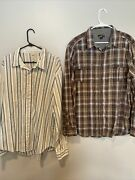 Bke Contour Long Sleeve Button Down Shirt And Helix Xl Lot Of 2