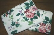 Waverly Pleasant Valley Floral Green Purple Grapes Flower Fabric 4.75+ Yd 2 Pcs