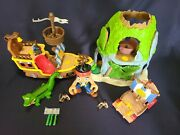 Disney Jake And The Neverland Pirates - Musical Pirate Ship + Tiki Hideout +