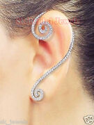 Black Friday 3.53cts Naturel Diamant 14k Blanc Solide Or Boucle Dand039oreilles