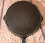 Pre-griswold Quotes Erie No. 9 Cast Iron Skillet Fry Pan