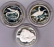 Russia - 1 Rouble 1998 Proof Y 628, 629, 630, Red Book Set