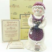 Special Exclusive Edition 8 Snowlady W/gingerbread Limited Signed By Artist