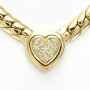 Jewelry 18k Yellow Gold Necklace Diamond About30.8g Free Shipping Used