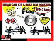 Vw Engle W110 Complete Cam Kit W/gear Lifters And Scat 125 Forged Rockers