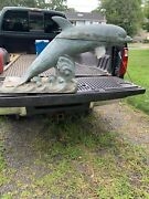 Bautiful Bronze Water Fauntain Dolphin Could Be Used For The Garden Or Fish Pond