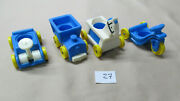 Vintage Fisher-price Little People Children Blue Riding Toys Lot Of 4 27